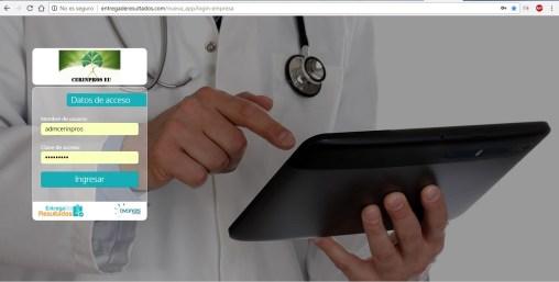 Página de descarga de resultados.