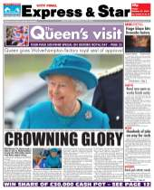 Expres & Star: Queen's visit front page