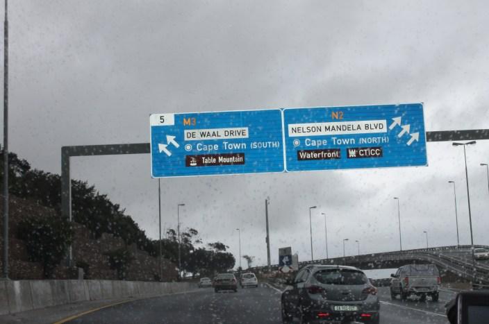 La route de l'aéroport au Cap