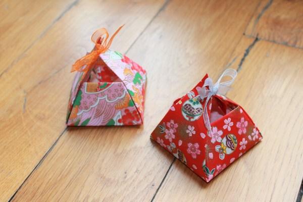 Ballotins boîte origami décoration originale