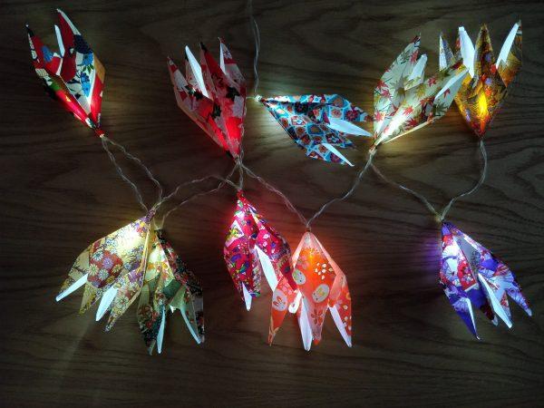 Guirlande lumineuse origami 2
