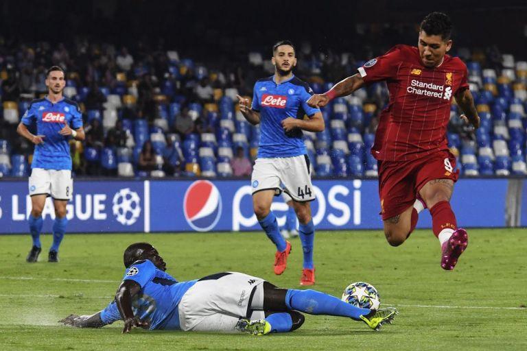 Hasil pertandingan Liverpool vs Napoli : 1 – 1