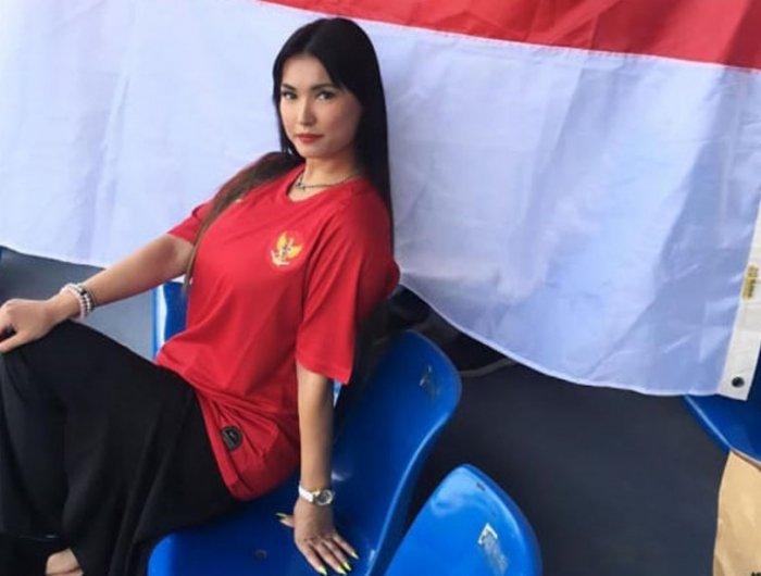 Miyabi Dukung Timnas U-23 Indonesia Saat Lawan Thailand