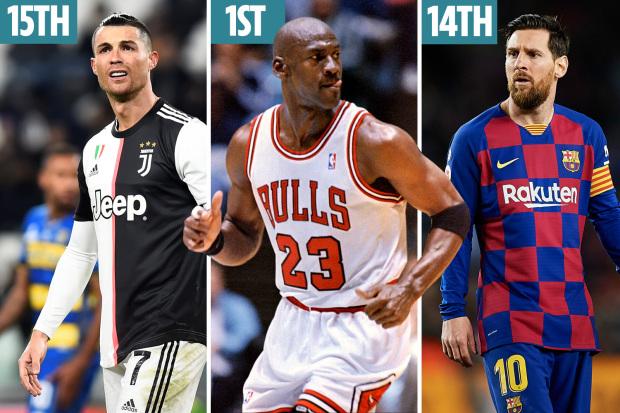Ini Daftar 25 Atlet Terbaik Sepanjang Masa : Cristiano Ronaldo Hanya Di Posisi 15, MJ Teratas