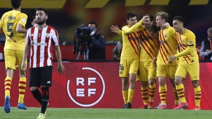 Video Highlight Final Copa Del Rey Athletic Bilbao vs Barcelona Berakhir 0-4