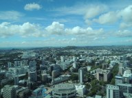 View from the Sky Tower Auckland