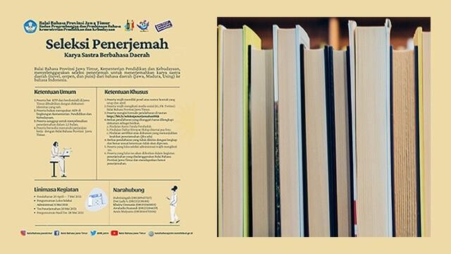 Dibutuhkan penerjemah karya sastra berbahasa daerah
