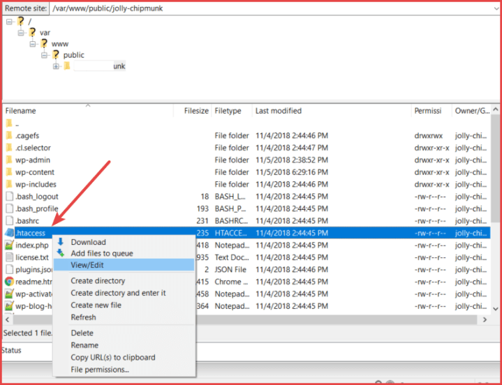 Edit htaccess File And Add Code Snippet
