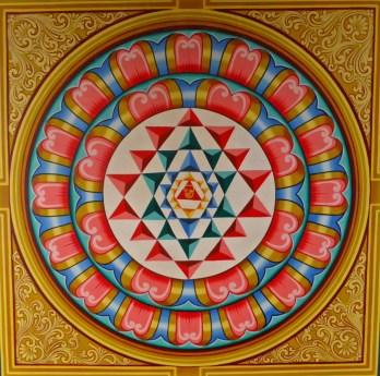 Mandala on the roof of Sri Mariamman Temple