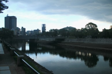 Heavy clouds in the Hiroshima'ssky