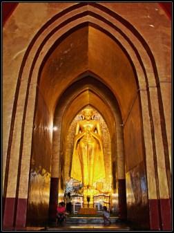 Buddha Image in Ananda Phaya, Bagan, Myanmar