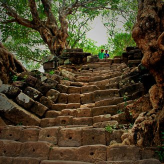 Central Stairs to the Sanctuary of Wat Phou