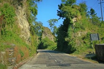 Rock cut, between Lumbini - Narayangarh