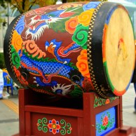 The beautiful drum on Changing of the Royal Guards Ceremony