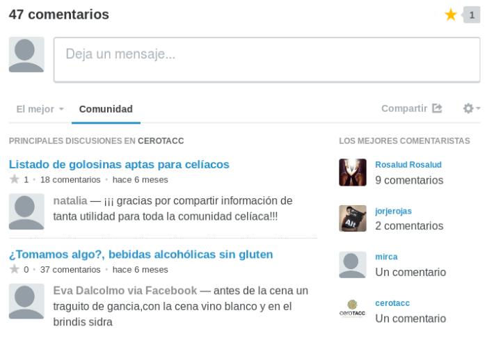 Comentarios en CeroTACC