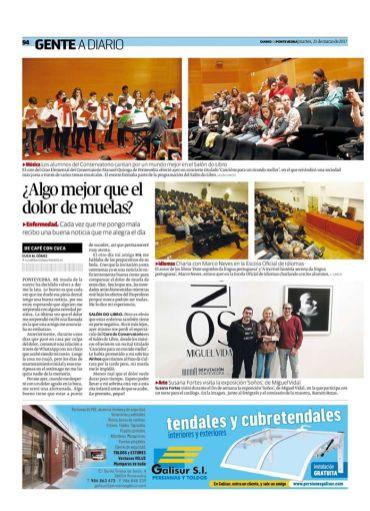 Notícia no Diário de Pontevedra.