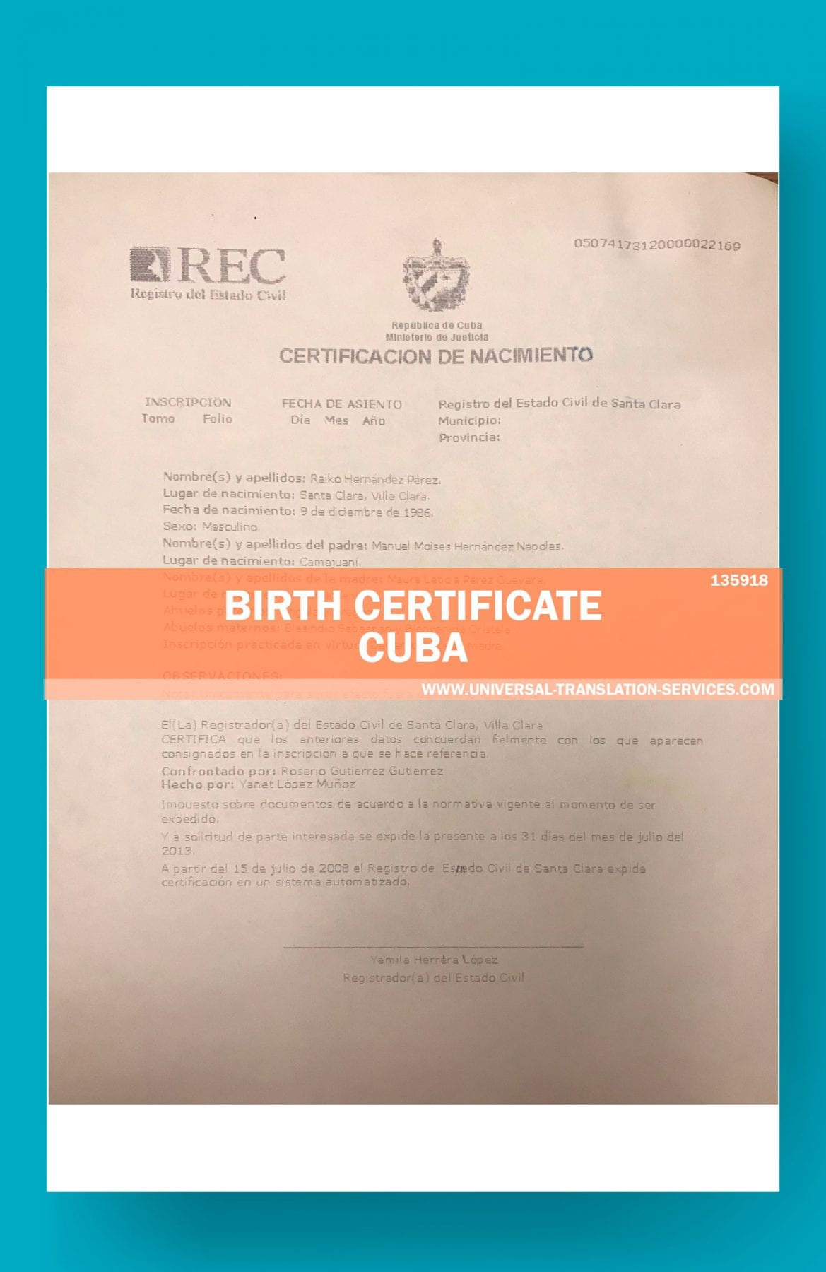 Get A Fast Translation Of Birth Certificate On Spanish