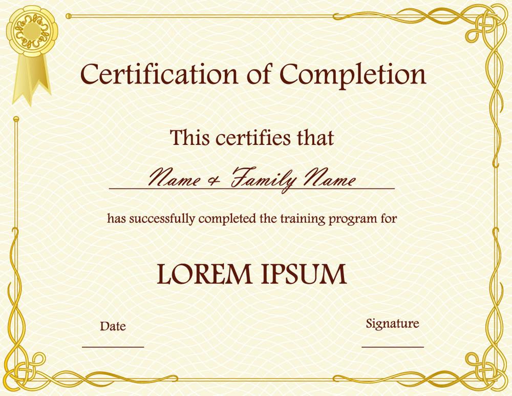 blank certificates 8 scholarship certificate templates free word – Blank Certificates Template