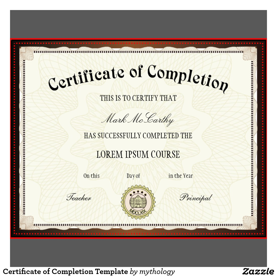 Training Certificates Templates free training certificate – Certificate of Completion Word Template