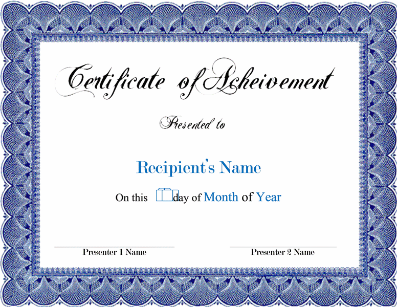Free Printable Certificate Template of completion free – Free Achievement Certificates
