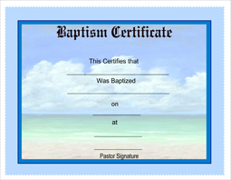 photograph regarding Free Printable Baptism Certificates identified as No cost Baptism Certification Template. baptisms totally free printable