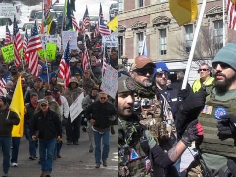 Armed conservatives militias storms Washington to defend the second Amendment