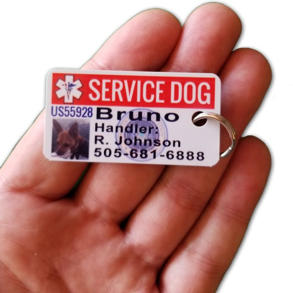 mini service dog id card