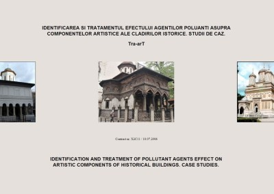 Tra-arT: Identification and treatment of pollutant agents effect on artistic components of historical buildings. Case Studies