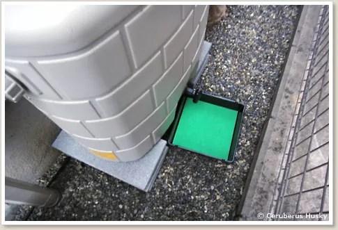 雨水タンクの水