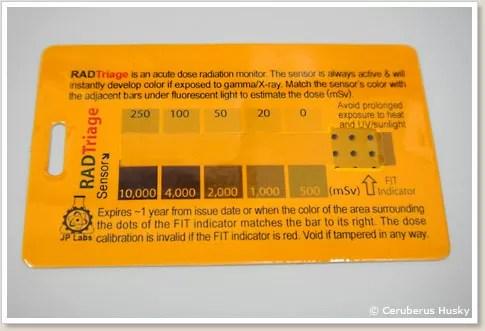 カード式の線量計