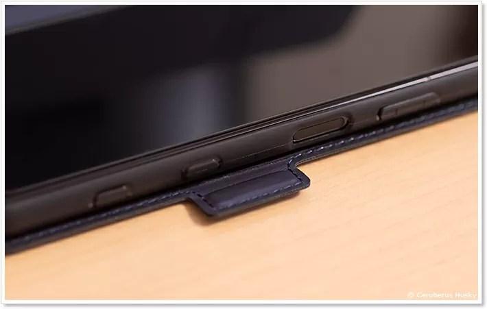 Xperia 5 II 手帳型ケースのボタン周り