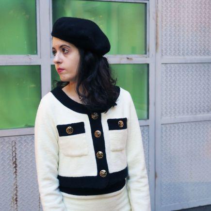 DIY traje Chanel chaqueta con forro