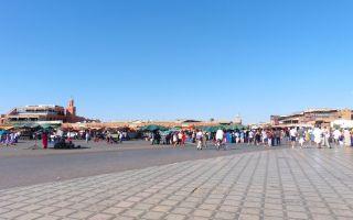 Plaza de Yamaa el Fna en Marrakech, Marruecos
