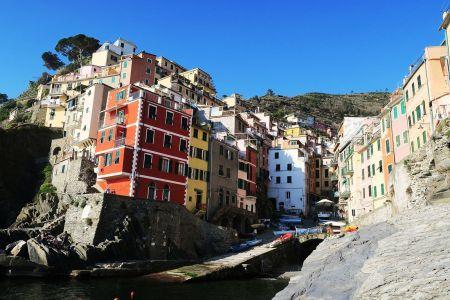 Embarcadero en Riomaggiore, Cinqueterre, Italia