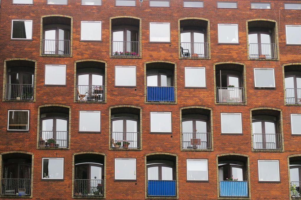 Bloques de viviendas en Copenhague, Dinamarca