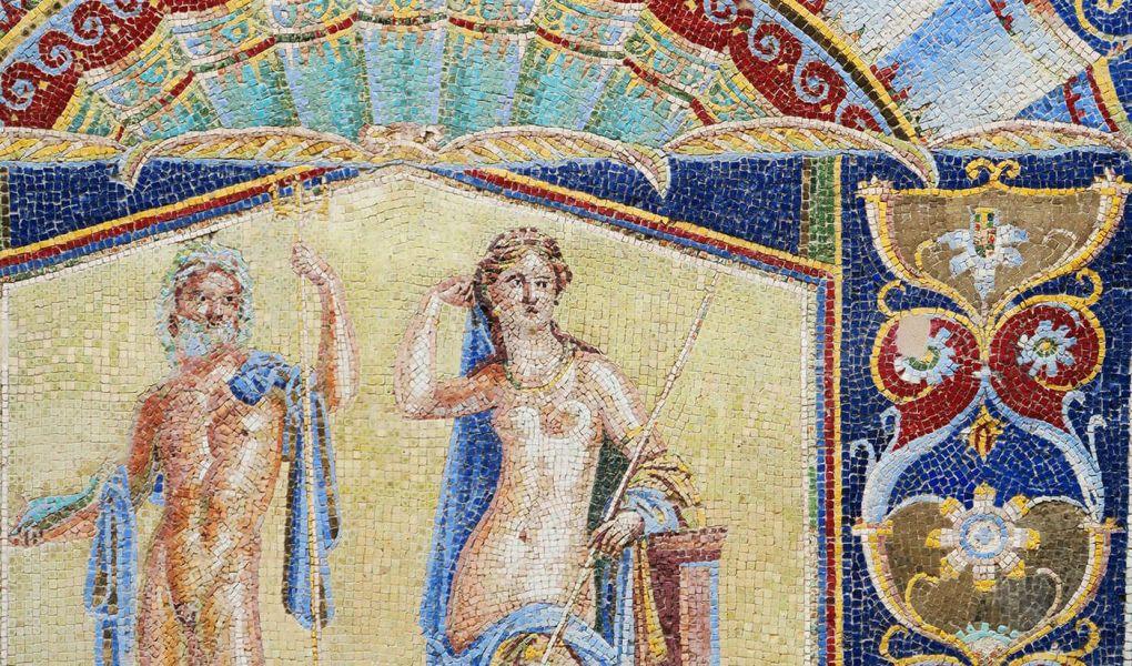 Mosaicos en Herculano, Italia