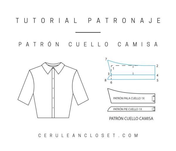 Tutorial patronaje: patrón cuello de camisa