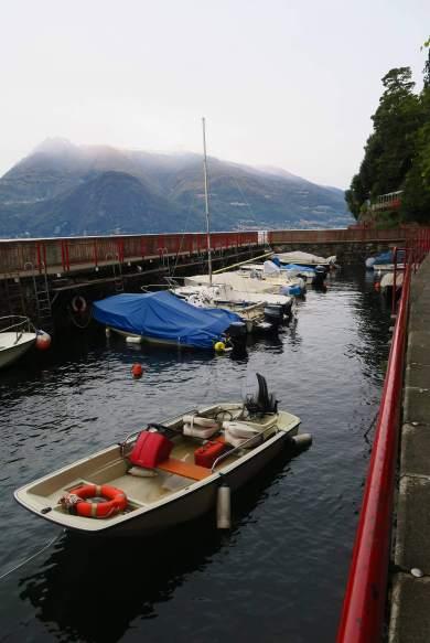 Barcos en el Lago de Como, Milán