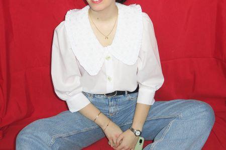 Tutorial costura DIY: camisa con cuello bobo y volantes