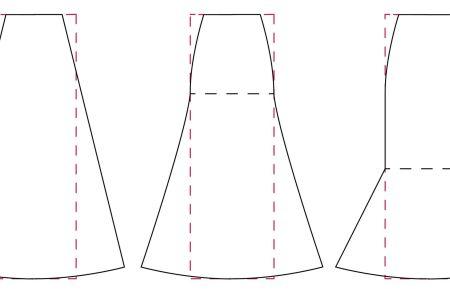 Tutorial patronaje: patrón de falda de quillas o nesgas, variaciones
