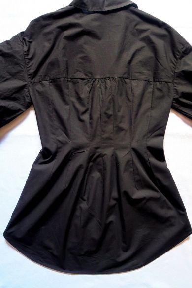Tutorial reciclaje ropa: DIY vestido camisa ajustado, pinzas por el exterior de la camisa