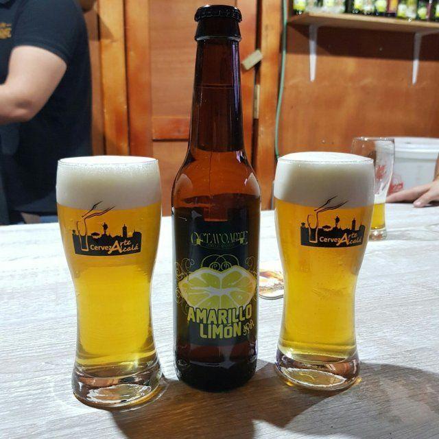 amarillo limón octavo arte en Cervezarte
