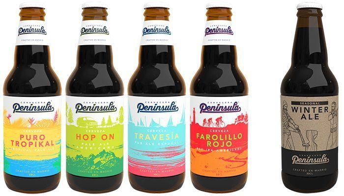Cervezas Península disponibles en botella