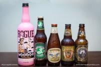 Rogue Voodoo, Brooklyn Lager, Centennial Ipa, Old Rasputin