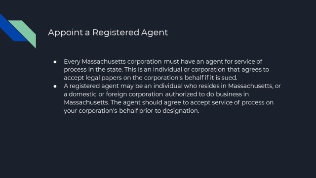 Form a Corporation in Massachusetts