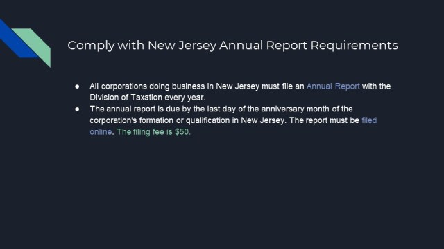Forming a corp in new jersey 8