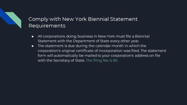 Forming a corporation in New York 8