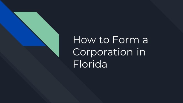 How to Form a Corporation in Florida 1