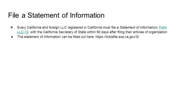 How to form an LLC California 6
