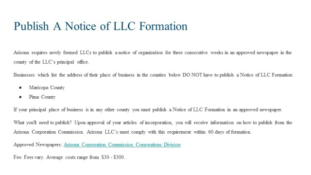 How to Form an LLC in Arizona 6